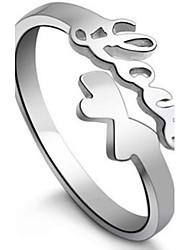 Briefe Liebe 925 Sterling Silber Ringe