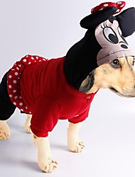 Dog Hoodie / Clothes/Jumpsuit Red / Black Winter Animal / Cartoon Cosplay, Dog Clothes / Dog Clothing-Doglemi