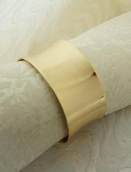 rond de serviette en métal, fer, 1,77 pouces, un ensemble de 50