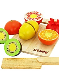BENHO Rubber Wood Fruit Set Wooden Education Role Play Toy