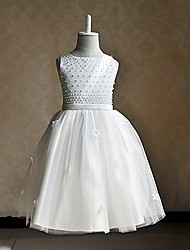 A-line Knee-length Flower Girl Dress Sleeveless