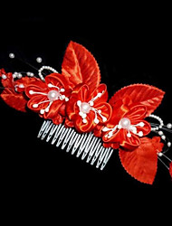 Fashion Bride Flowers Imitation Pearl Hair Combs