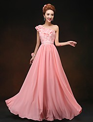 Dress - As Picture Sheath/Column One Shoulder Floor-length Chiffon