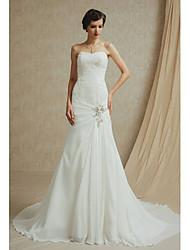 A-line Wedding Dress Court Train Bateau