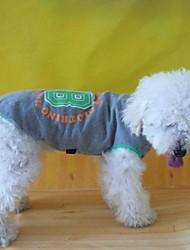 Hunde T-shirt / Pullover Braun Hundekleidung Sommer Buchstabe & Nummer