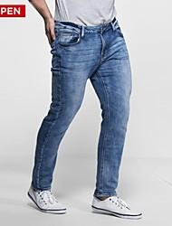 plus size masculina leepen calças de malha.