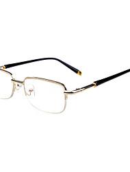 [Free Lenses] Metal Rectangle Half-Rim Classic Reading Eyeglasses