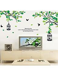 stickers muraux stickers muraux, cage à oiseaux de style sur les branches d'arbres autocollants muraux PVC