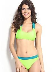 Bikinis/Tankinis/Accesorios de natación/Blusa Traslúcida ( Poliéster/Spandex )- Sin Cables/Sujetadores con relleno - Sin mangas para Mujer