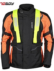 Motoboy Men's Professional High Visible Waterproof and Warm Motorcycle Jacket for 4 Seasons, CE Protectors Provided