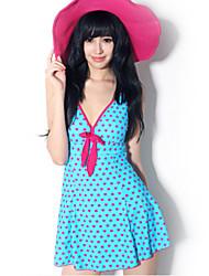 Sheqi Women's Classic Push-up One Piece Swim Dress Swimming Suit