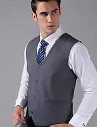 gilet in lana / poliestere grigio scuro