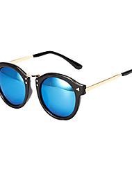 100% UV400 Round Plastic Retro Sunglasses