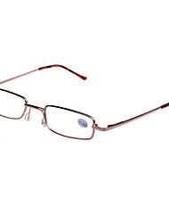 [livres] lentes de metal retângulo óculos de leitura clássico cheio-rim