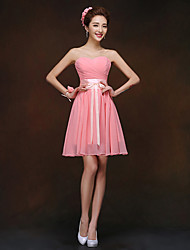 Short/Mini Bridesmaid Dress - Watermelon Sheath/Column Sweetheart