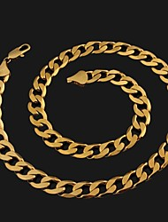 Figaro 55 centímetros homens cadeia dourado chapeado colares cadeia (largura 10 milímetros)