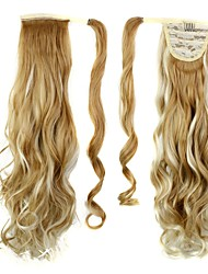 Excellent Quality Synthetic Long Curly Hair Piece 26 Inch Clip In Ponytail