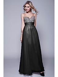 Formal Evening Dress Sheath/Column Sweetheart/Straps Floor-length Chiffon