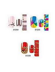14PCS Cartoon Nail Art Stickers S1 Series NO.1254-1256(Assorted Pattern)