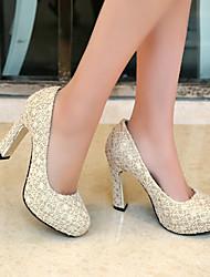 moda grossos sapatos de salto alto de renda de Lobo mulheres