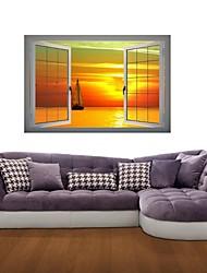 Adesivos de parede adesivos de parede 3d, parede sunset decoração adesivos de vinil