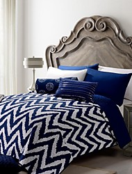 Stripe Blue Polyester Quilt