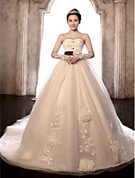 Ball Gown Wedding Dress Chapel Train Sweetheart Tulle