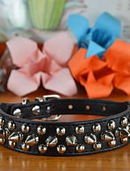 Pu Leather One Row Spikes Small Collar with Small Nails for Dogs and Pets