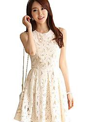 Vestido de encaje sin mangas de la Mujer Hanyiou ®