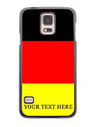 caja del teléfono personalizado - caja de metal alemán de la bandera del diseño para i9600 Samsung Galaxy S5