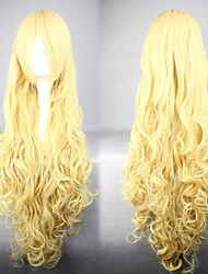 Wavy Long Hair Cosplay Wig Yellow Popular Cosplay Party Wig