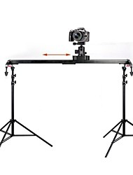 POPLAR Portable Professional 60CM Track Slider Dolly Stabilizer System for DSLR Camcorders with 002 Ball Shaped Head