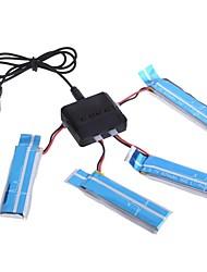 neewer rc 4x 3,7 V 520mah Batterie 25c + 1x Ladegerät für hubsan quadcopter