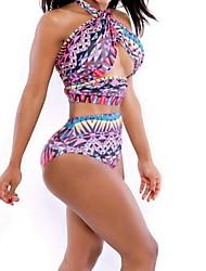 estilo europeu sensuais abdômen e cintura cintas dois pedaço swimsuit