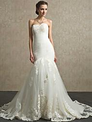 A-line Court Train Wedding Dress -Sweetheart Lace