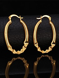 U7® High Quality Simple Style Round Circle Hoop earrings Gold Plated Platinum Plated Fashion Jewelry