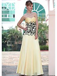 Sheath/Column Spaghetti Straps Floor-length Evening Dress