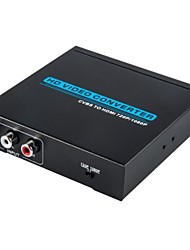 HD Video Converter CVBS Auto Scaler to HDMI , AV Converter to HDMI