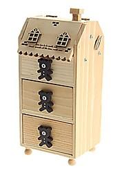 juguetes de la caja en forma de pluma música contenedor feliz oso