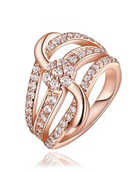 18 K Gold Plated Environmental Geometry Band Diamond  Ring (More Colors)/Promis Rings For Couples
