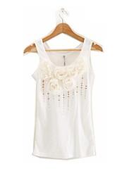 Women's Round Collar Romantic Magnificent Snow Sleeveless Shirts