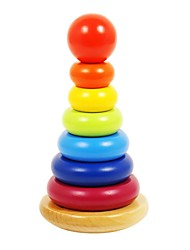 BENHO Rubber Wood Rainbow Stacker Education Bbay Toy  Gift