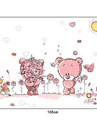 schöne romantische Bären PVC-Wandaufkleber