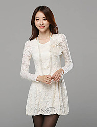 Women's Casual/Lace Long Sleeve Dresses (Lace)