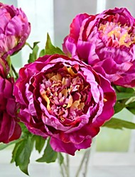 "Modern Purple Artificial Silk Big Peony 2PCS/Lot Stem 29.5"" for Hotel and Home Decoration"