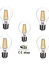 5 pièces ONDENN E26/E27 4 COB 400 LM Blanc Chaud A60(A19) edison Vintage Ampoules à Filament LED AC 100-240 V