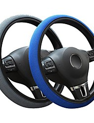 Auto Youth Fabric Fish Net Stitching Car Steering Wheel Cover Universal Fit (37cm-38cm) Colour Blue Gray