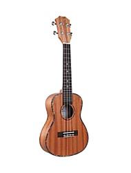 """ukulele acústico Tom 23 """"concerto mogno com corda aquila"""