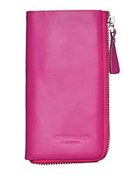 Women Formal Cowhide Zipper Key Cases