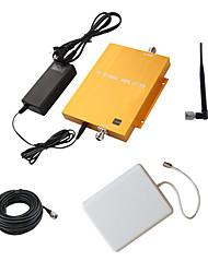 1800MHz dcs980 ouro móvel celular amplificador booster de sinal repetidor com painel e chicote antenas